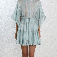 Whitewave Veil Mini Dress
