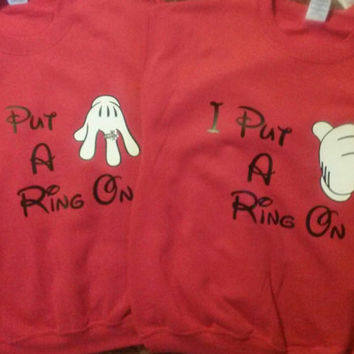 Disney Put A Ring On It Couples Sweatshirts
