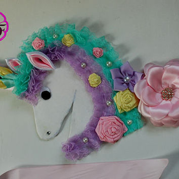 Maternity sash / pastel colors Maternity sash /Pregnancy sash /Unicorn baby shower / Mommy to be sash / Baby shower sash belt , Its a girl