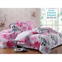 Lush Petals Twin XL Comforter Set - College Ave Designer Series Items For College Students Best Dorm Stuff