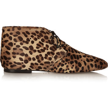 Isabel Marant - Ginger leopard-print calf hair ankle boots