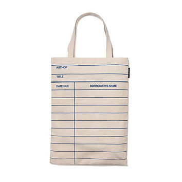Library Card Tote Bag | Book Bag