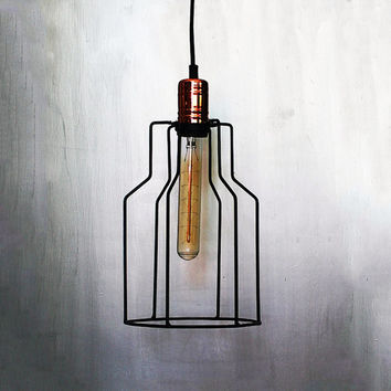 Industrial Hanging Cage Lamp Pendant Lighting Ceiling Lamp Geometric Home Decor Vintage Lampshade