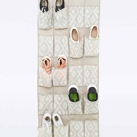 Over-The-Door Jute 20-Pocket Shoe Organiser - Urban Outfitters