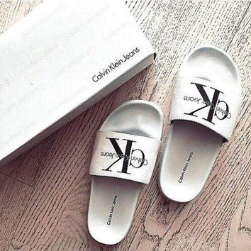 onetow One-nice? Calvin Klein Casual Woman Fashion Sandals Slipper Shoes
