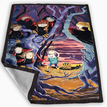 comic adventure time Blanket for Kids Blanket, Fleece Blanket Cute and Awesome Blanket for your bedding, Blanket fleece **