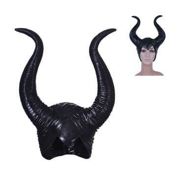 Maleficent Latex Horns Headpiece Women Halloween Party Decoration Cosplay Costume Headpiece Hat Party Supplies Cosplay Women