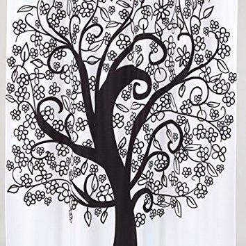 BenandJonah Collection Fabric Shower Curtain 70 x 72 inch  Tree of Life