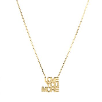 Handcrafted LOVE YOU MORE Script Necklace