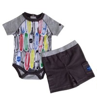 Hurley Baby Boys Short Sleeve Bodysuits & Short Pant