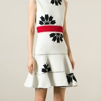 Alexander Mcqueen Flower Jacquard Dress - Tootsies - Farfetch.com