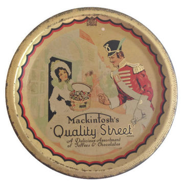Vintage Tin Box, Mackintosh's Quality Street, Toffee and Chocolate Tin, Made in England, Candy Box, Collectible Tin, Shabby Chic