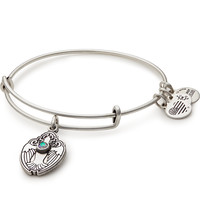 Crystal Dove Charm Bangle