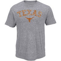 Majestic Texas Longhorns Campus Craze Tri-Blend T-Shirt - Ash