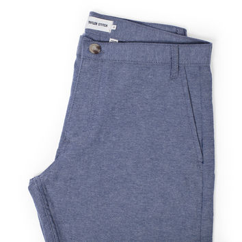 Navy Chambray Telegraph Trouser - Brenham Slim Fit