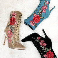 Mini 108  Flower patches Booties by Cape Robbin