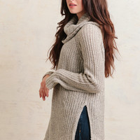 Cabin Creek Oversized Sweater In Beige