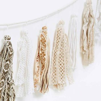 Lace Tassel Banner - Urban Outfitters