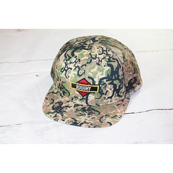 "HOOey ROUGHY CAMO ""Ziggy"" OSFA (snapback) 4021T-C NEW FOR 2017"