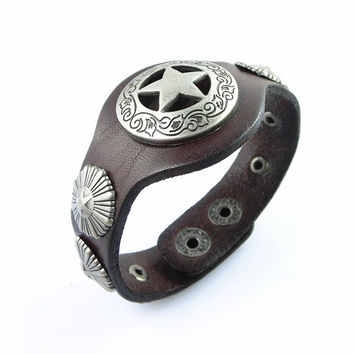 Fashion Punk  Adjustable Leather Wristband Cuff Bracelet - Great for Men, Women, Teens, Boys, Girls 2732s