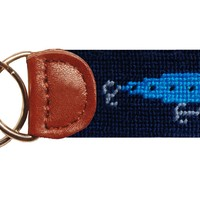 Lures Needlepoint Key Fob in Blue by Smathers & Branson