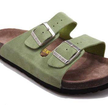 Summer Birkenstock  Couple Sandals Green  Beach Slippers