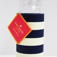 Glass Water Bottle Rugby Stripe: Kate Spade
