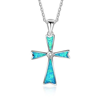 Religious Jewelry for Women Sterling Silver Cross Star of David Ifinity Charm Pendant Necklace, 18""