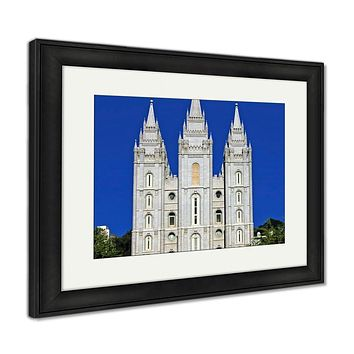 Framed Print, Mormon Temple Salt Lake City Utah