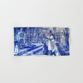 Portuguese Historical Art. Hand & Bath Towel by Tony Silveira