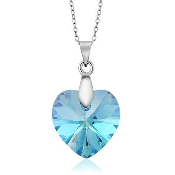 Nirano Collection Aurora Borelias Heart Pendant Created with Swarovski® Crystals