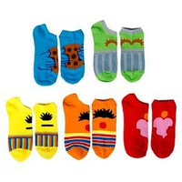 Sesame Street™ Women's 5-Pack No Show Socks - Multi-Colored 9-11 : Target