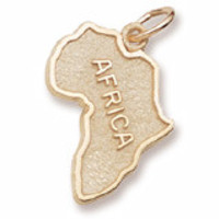 Africa Charm in Yellow Gold Plated