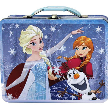 Disney Frozen Blue Tin Lunch Box
