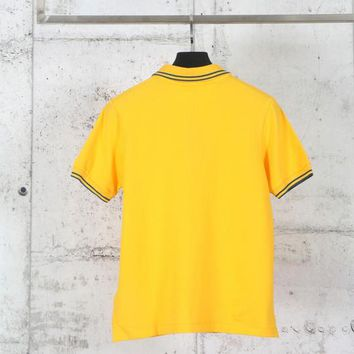 hcxx Stone Island POLO Shirt Stenson Short Sleeved T-Shirt Yellow