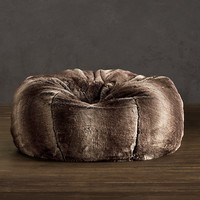Grand Luxe Faux Fur Bean Bag Chair - Mink