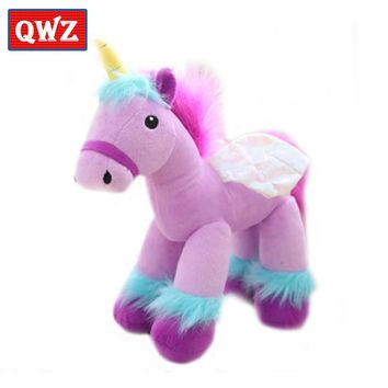 QWZ 35CM Kawaii Unicorn Plush Toys Baby Dolls Stuffed Animal Toys For Children Birthday Gift Toys Children Room Decoration Doll
