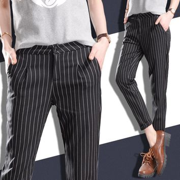 Pin Stripe Casual Pants