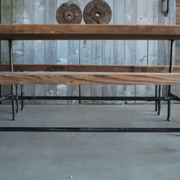 "Reclaimed Wood table. We make them to size specifications. 84"" l x 34"" w x 30""  tall"