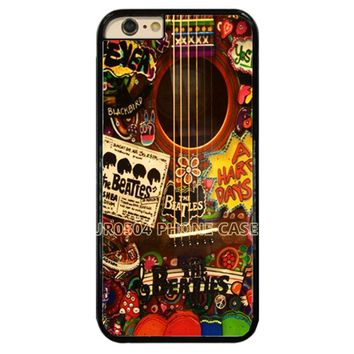 The Beatles Hippie Guitar Hard Phone Case Cover Fit For iPhone / Samsung / Touch