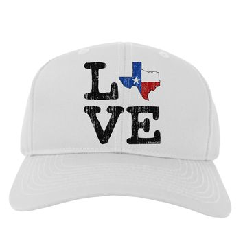 Texas Love Distressed Design Adult Baseball Cap Hat by TooLoud
