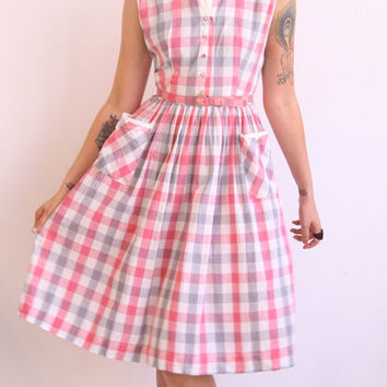 1950s dress // vintage 50s dress // Cotton Candy Day Dress