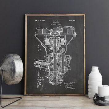 Henry Ford, Transmission, Ford Patent Poster, Car Parts Print, Car Engine Parts, Garage Patent, Ford Poster, Mechanic Gift, INSTANT DOWNLOAD