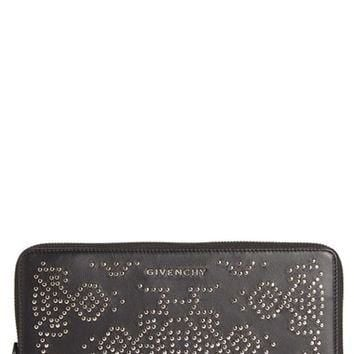 Givenchy 'Pandora' Studded Leather Zip Around Wallet | Nordstrom