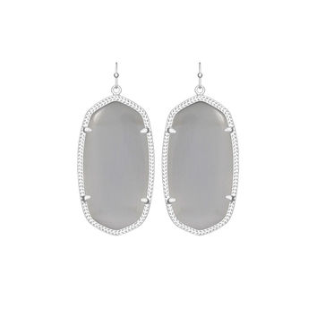 Kendra Scott Danielle Silver Earrings In Slate