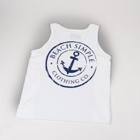 Classic Anchor Tank Top - White Crest