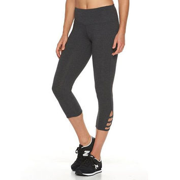 Tek Gear Capri with Side Slits Grey