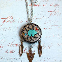 Bear Dream Catcher Necklace