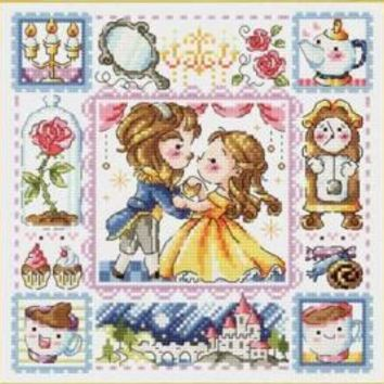 Gold Collection Counted Cross Stitch Kit Beauty and the Beast Fairytale Fairy Tale Fairyland Wonderland SO