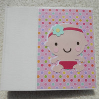 6x6 Premade Baby Girl Scrapbook Album
